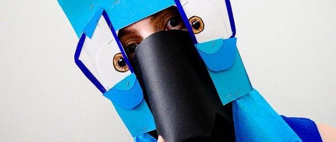 Maski – papuga z pudełka
