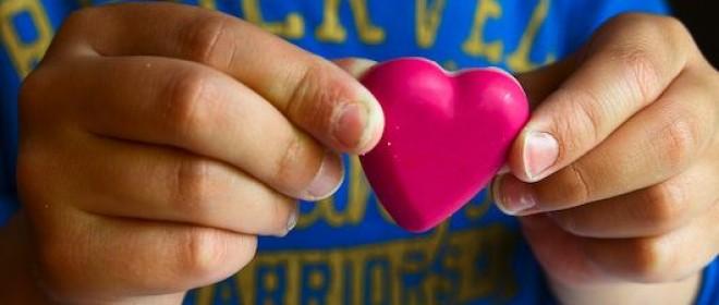 Serce z kredek
